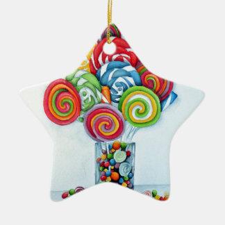 Candy land ceramic star decoration