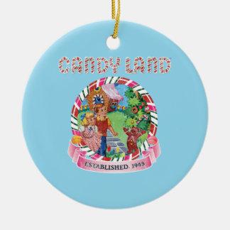 Candy Land Established 1945 Round Ceramic Decoration