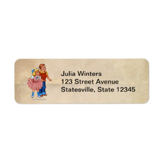 Candy Land Kids Return Address Label