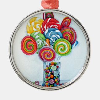 Candy land Silver-Colored round decoration