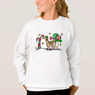 candy llama sweatshirt