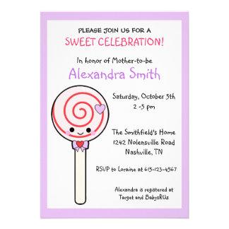 Candy Lollipop Baby Shower Custom Invite
