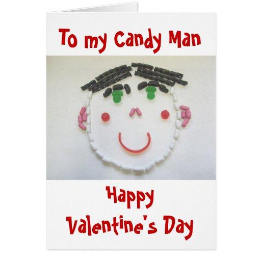 Candy Man Valentine Card