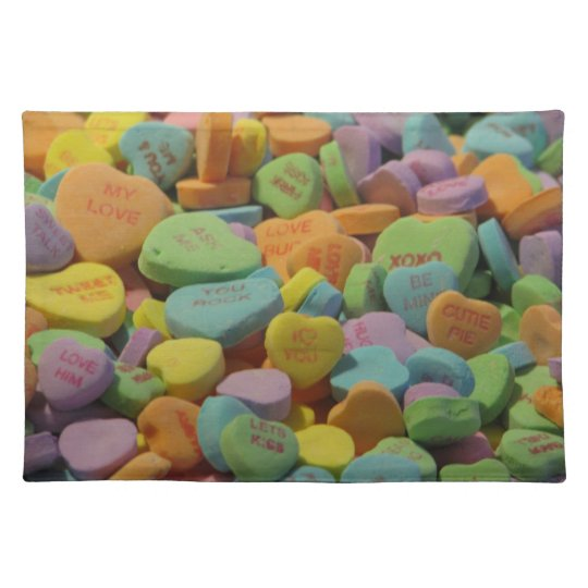 Candy Message Hearts Placemat