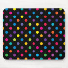 Candy on Black Polka Dot Mouse Mat