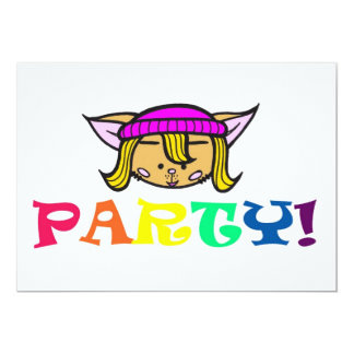Candy/party! 13 Cm X 18 Cm Invitation Card