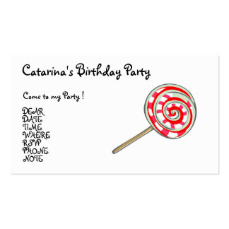 Candy  Party- Customized Business Card Template