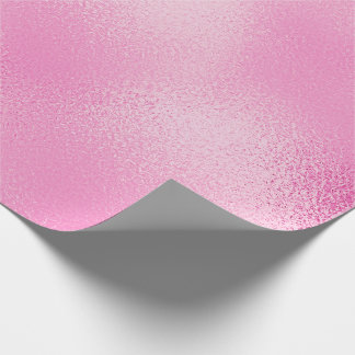 Candy Pastel Pink Rose Glass Ice Glam Wrapping Paper