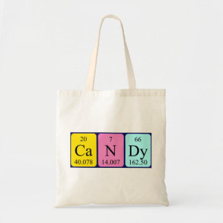 Candy periodic table name tote bag