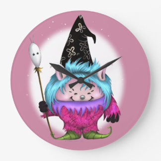CANDY PET 1 HALLOWEEN ALIEN MONSTER CLOCK ROUND