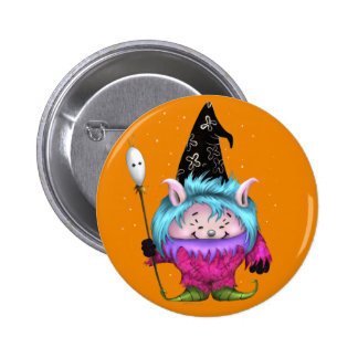 CANDY PET 1 HALLOWEEN MONSTER SMALL BUTTON 2¼ Inch