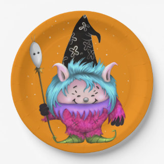 CANDY PET 1 HALLOWEEN PAPER PLATE 9 inches MONSTER 9 Inch Paper Plate