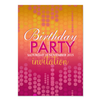 Candy Pink Bokeh Sparkle Birthday Invitation