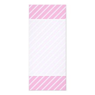 Candy Pink Diagonal Striped Pattern. 10 Cm X 24 Cm Invitation Card