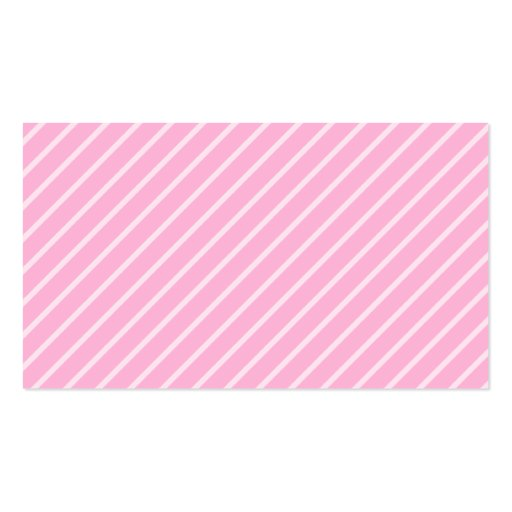 White With Pale Pink Stripe Personalized Business Cards