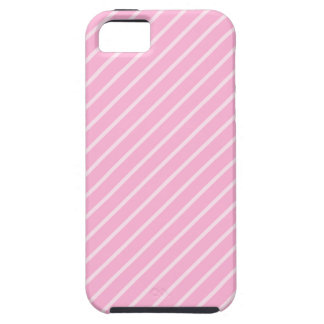 Candy Pink Diagonal Striped Pattern. Case For The iPhone 5