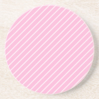 Candy Pink Diagonal Striped Pattern. Coaster