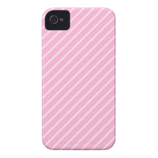 Candy Pink Diagonal Striped Pattern. iPhone 4 Cases