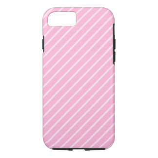 Candy Pink Diagonal Striped Pattern. iPhone 8/7 Case