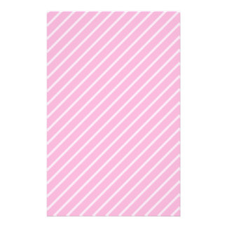 Candy Pink Diagonal Striped Pattern. Stationery