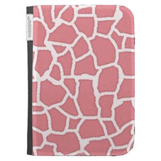 Candy Pink Giraffe Animal Print Kindle Keyboard Case
