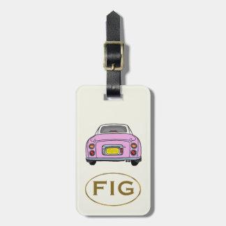 Candy Pink Nissan Figaro Custom Luggage Tag