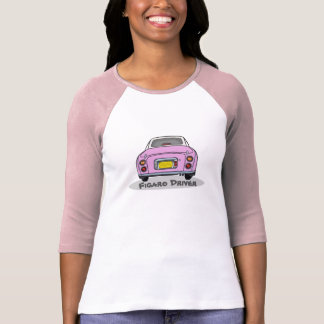 Candy Pink Nissan Figaro Driver Customise T Shirt
