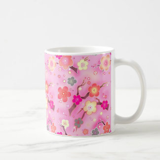 Candy Pink Sakura cherry blossom coffee mug