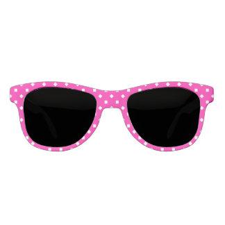 Candy Pink White Girly Geometric Pattern Sunglasses