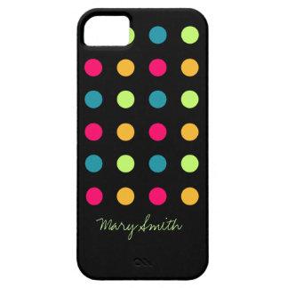Candy Polka Dot Custom Name Blue iPhone 5 Case