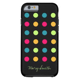 Candy Polka Dot Custom Name Green Tough iPhone 6 Case