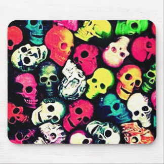 candy pop death skull mouse pad