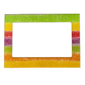 Candy Rainbow Sweet Stripes Magnetic Picture Frame