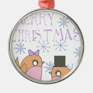 Candy robins christmas ornament