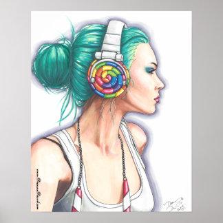 Candy Rocker Poster Punk Girl Poster