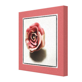 Candy Rose in Pink and Cream - Food Print Gallery Wrapped Canvas