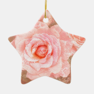 Candy roses ceramic star decoration