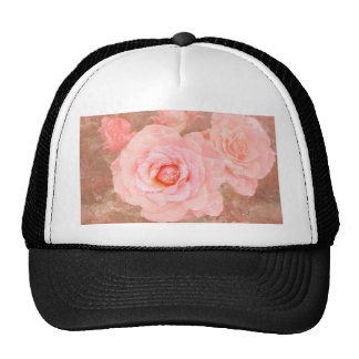 Candy roses mesh hat