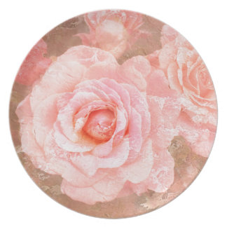 Candy roses party plates
