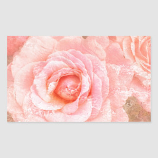 Candy roses rectangular sticker