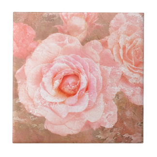 Candy roses small square tile