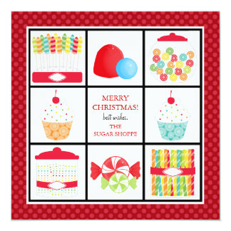 Candy Shop Business Christmas Cards