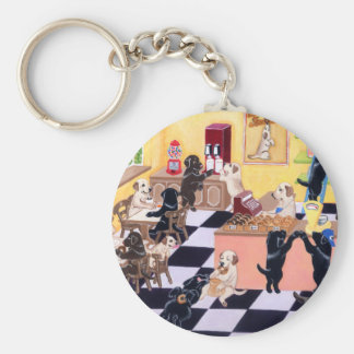 Candy Shop Labradors Basic Round Button Key Ring