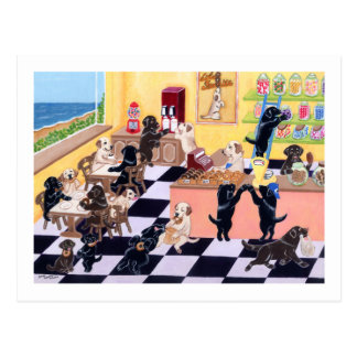 Candy Shop Labradors Postcard