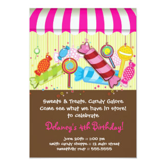 Candy Shoppe Birthday Invitation