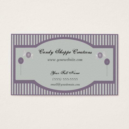 Candy Shoppe Business Card - Purple