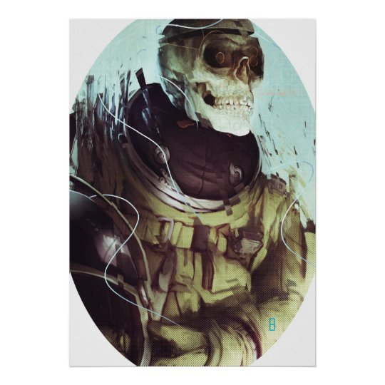 Candy Skull Cosmonaut Poster