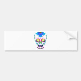 Candy skull - multicoloured bumper stickers