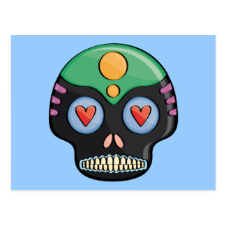 Candy Skull Postcard