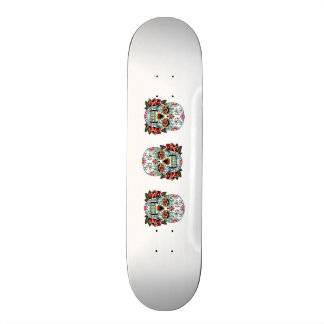 candy skull skateboard